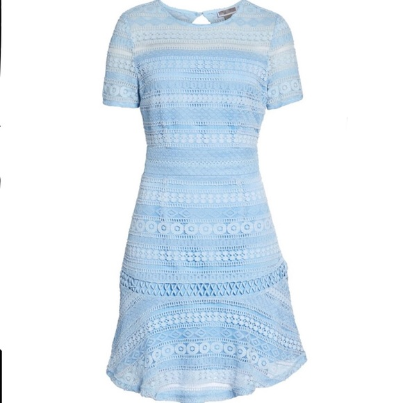 Chelsea28 Dresses & Skirts - NWTs CHELSEA28 • Lace Light Blue Flare Dress